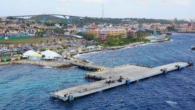 Vue de Willemstad, Curaçao photos libres de droits