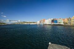 Vue de Willemstad du centre Le Cura?ao, photo libre de droits