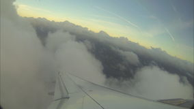 Vue de Wing Out From Airplane clips vidéos