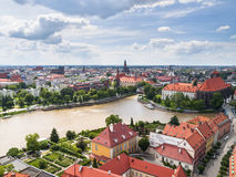 Vue de Wroclaw photo stock