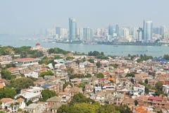 Vue de Xiamen d'île de Gulangyu, Chine. Photographie stock