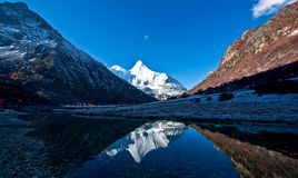 Vue de Yading, Yunnan Photo stock