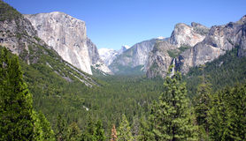 Vue de Yosemite Photo stock