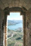 Vue de Zahara de l'hublot d'un château Image stock