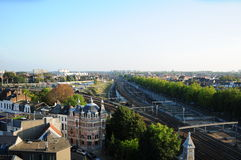 Vue de Zurenborg, Anvers Photos stock