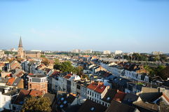 Vue de Zurenborg, Anvers Photo stock
