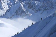 Vue del Aiguille Du Midi Foto de archivo libre de regalías