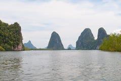 Vue des îles en Thaïlande Image libre de droits