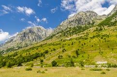 Vue des Alpes albanais Photos libres de droits
