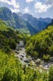 Vue des Alpes albanais Images libres de droits