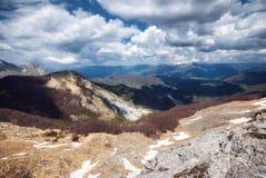 Vue des Alpes d'Apuan image libre de droits