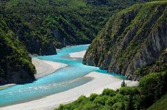 Vue des Alpes du sud Nouvelle-Zélande images stock