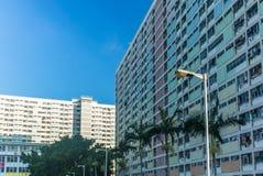Vue des bâtiments de Hong Kong Images libres de droits