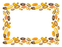 Vue des biscuits Photos stock
