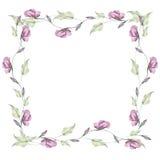 Vue des bourgeon floraux Illustration d'aquarelle d'aspiration de main Photo stock