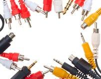 Vue des câbles sonores et visuels photo libre de droits