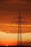 Vue des câbles sur le pylône Photo stock