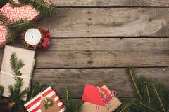 Vue des cadeaux de Noël image stock