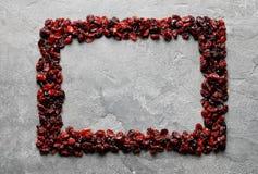 Vue des canneberges sur le fond de couleur image libre de droits