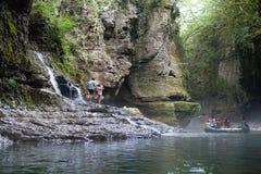 Vue des canyons sauvages de Martvili Photographie stock libre de droits