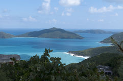 Vue des Caraïbe de Tortola Images libres de droits