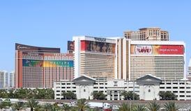 Vue des casinos à Las Vegas Images stock