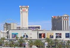Vue des casinos Las Vegas de Caesars Palace Photo libre de droits