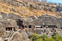 Vue des cavernes d'Ajanta Site de patrimoine mondial de l'UNESCO dans le maharashtra, Inde photographie stock