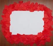 Vue des coeurs, endroit pour le texte Jour du `s de Valentine photos libres de droits