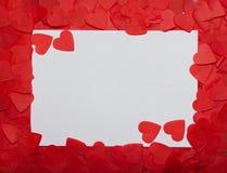 Vue des coeurs, endroit pour le texte Jour du `s de Valentine images stock