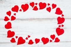 Vue des coeurs rouges pour la carte de jour de valentines Photos stock