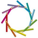 Vue des crayons Photos stock