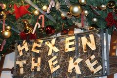 Vue des décorations de Noël en gros plan sur Noël image libre de droits