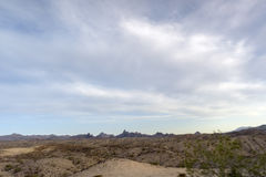 Vue des déserts du Nevada aux Etats-Unis image libre de droits