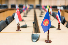 Vue des drapeaux nationaux des pays d'Asie du Sud-Est ; Le Brunei Darus photos stock