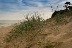 Vue des dunes à la mer baltique Images libres de droits