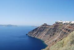 Vue des falaises de Fira et d'Imerovigli Photo stock