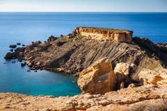 Vue des falaises Malte photos stock