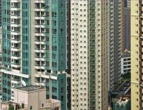 Fenêtres de Sckycrapers à Hong Kong Photographie stock libre de droits