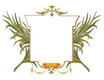 Vue des feuilles avec la guirlande de laurier avec le ruban illustration stock