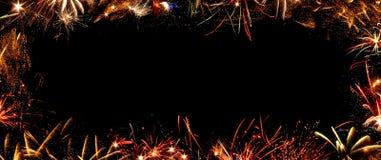 Vue des feux d'artifice Image libre de droits