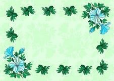 Vue des fleurs avec le fond Illustration de Vecteur
