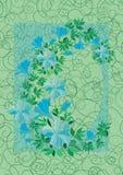 Vue des fleurs bleues abstraites avec le fond Illustration Stock