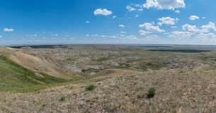 Vue des formations glaciaires de parc national de prairies image libre de droits