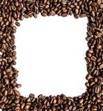 Vue des grains de café sur le fond blanc Images libres de droits