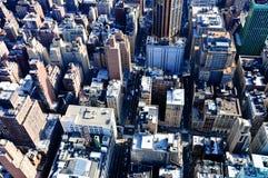 Vue des gratte-ciel à Manhattan, New York Image libre de droits