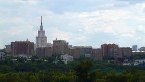 Vue des gratte-ciel à Moscou banque de vidéos