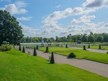 Vue des jardins de Kensington à Londres un jour ensoleillé photo stock