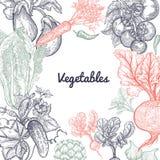 Vue des légumes et de l'espace pour le texte Images stock