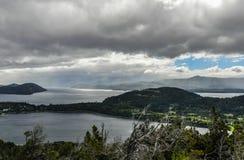 Vue des lacs, Bariloche, Argentine Image stock